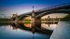 Zverynas Bridge (K.H.Reichert [ not explored ]) Tags: lithuania longexposure nikolaybridge fluss neris bridge river riverscape reflection spiegelung vilnius mirroring sonnenuntergang litauen langzeitbelichtung sunset bezirkvilnius lt