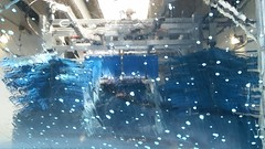 Car Wash (Adventurer Dustin Holmes) Tags: 2018 carwash mrhotshine brushes automaticcarwash drivethrucarwash drivethroughcarwash springfieldmo springfieldmissouri windshield