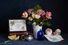 Happy Mother's Day 2018 (Phyllis Freels) Tags: mothersday phyllisfreels blue boquet cupcake flowers hankerchief lemon perfume pink roses silver stilllife tea vase vintage