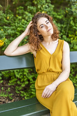 Nell #5 (Arnaud_S) Tags: portrait model actress redhead green dress sitting natural d810 sigma art