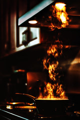 Compliments to the Chef : ) (Natalia Medd) Tags: cooking flame steam kitchen stove light dinner