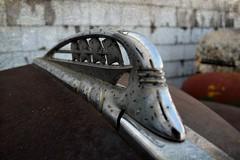 I saw four ships come sailing in (David Sebben) Tags: plymouth hood ornament rust pitted chrome sailing ships sedan