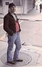 Common Man (czolacz) Tags: neworleans handpainted hobo homeless alone man 1970s notblackandwhite common manhole jeans forgotten
