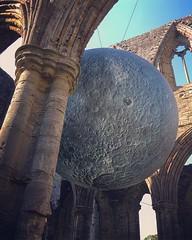 Abbey moon (lufcwls) Tags: building architecture artinstallation art moon religion ruins historical history cadw tinternabbey abbey tintern cymru wales filter instagram iphone
