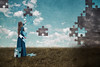 Out Of The Dark (Nwywre) Tags: puzzle outdoor sky fineart surreal fantasy girl clouds wolken puzzeln blue blau