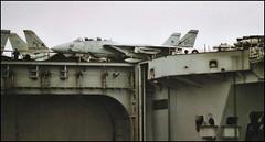 Grumman F-14 Tomcats Aboard USS Harry Truman (Fleet flyer) Tags: unitedstatesnavy usn navalaviation usnavy grummanf14tomcat grummanf14 grumman f14 tomcat f14tomcat aircraftcarrier ussharrytruman cvn75 solent hampshire portsmouth