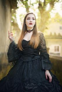 Astrid, the divinely beautiful Scandinavian vampire.