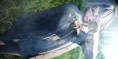"""Still has girl's mind"" (Eripom^^) Tags: secondlife second life 2nd 2ndlife sl virtual world school girl sailor sexy cute kawaii maitreya catwa catya animation cherry blossom black hentai sky city portrait"
