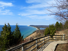 Spring Dunes (JamesEyeViewPhotography) Tags: empire bluffs spring sand dunes sky clouds fence trees lake michigan greatlakes landscape sleepingbeardunesnationallakeshore beach northernmichigan lakemichigan nature may colors water waves jameseyeviewphotography