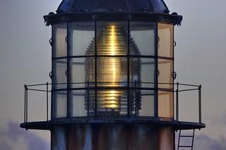 A focused beam of light