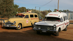 Regional AMBULANCE (3/3) (Jungle Jack Movements (ferroequinologist)) Tags: trio nsw new south wales australia show shine district ambulance historic temora riverina fj holden gm gmh ford failane zd 302 cleveland v8 panel van car auto automobile vehicle motor classic collectable veteran vintage rare beautiful restored hottie great wheel exhaust loud rumble paint seat hood horsepower cubic inches hp bhp drag gear clutch tour touring owner proud bonnet colour transport pride brake engine patient sick hospital accident emergency wagon flash light