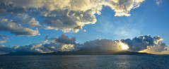 ... I see skies of blue, clouds of white ... (wolli s) Tags: caribbean martinique sea wonderfulworld stitched clouds sunrise nikon d7100
