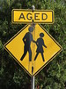 Early 1990s 'Aged Pedestrians' sign set on Davis Rd, Glunde (RS 1990) Tags: 1990s pedestrians trafficsign adelaide southaustralia friday 11th may 2018 davisrd