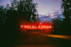 was it? (Louis Dazy) Tags: 35mm analog film double exposure sunset sunrise neon lights dream