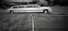 Limousine, Portland (austin granger) Tags: limousine portland nightclub limo parkinglot abandoned shoes empty decay time impermanence film pinhole zeroimage slots