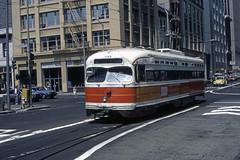 US CA San Francisco MUNI PCC 1145 6-1982 3rd_Mission Transbay Terminal (David Pirmann) Tags: california sanfrancisco muni tram trolley streetcar transit railroad transportation pcc