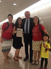 Moms and Clean Air Kids on the Hill with Senator Sanders