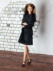 """Capsule Collection – the """"Elegant"""" set (Levitation_inc.) Tags: ooak doll clothes clothing fashion fashions dolls handmade etsy levitation levitationfashion royalty fr fr2 nuface poppy parker barbie made move outfit black white basic basics capsule collection wardrobe"""