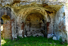 "Room ending in an apse (2nd century AD), perhaps ""sacellum"" (=chapel) for gladiator divinities or emperor worship - Amphitheater of Pozzuoli / Naples (Carlo Raso) Tags: room apse sacellum chapel gladiator divinities emperor worship amphitheater pozzuoli naples"