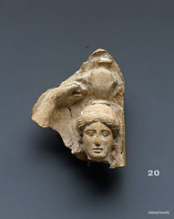 Aiani Museum, Terracotta fragment (1).JPG (tobeytravels) Tags: macedon macedonia alexanderthegreat alexandrthe3rd votive gravegoods clay figurine