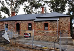 Cudlee Creek. The former Millbrook state school built in 1879. Destroyed by the Ash Wednesday bushfires of 1983. Currently being restored and converted to a fine residence. (denisbin) Tags: cudleecreek millbrook school stateschool schoolroom formerclassroom classroom
