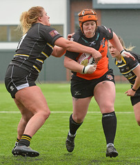 Girl Power (Feversham Media) Tags: yorkcityknightsladiesrlfc castlefordtigerswomenrlfc yorkstjohnuniversity womenssuperleague amateurrugbyleague rugbyleague york sportsaction yorkshire northyorkshire