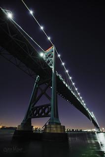 Below the Ambassador Bridge