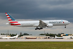 N724AN American Airlines 777-300 (Centreline Photography) Tags: airport runway plane planes aeroplane aircraft planespotting canon aviation flug flughafen airliner airliners spotting spotters airplanes airplane flight centrelinephotography chrishall miami miamiairport florida kmia usa america mia