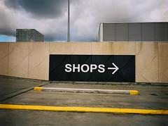 Shops (@fotodudenz) Tags: fuji fujifilm ga645w ga645wi kodak portra 160 doncaster melbourne victoria australia carpark jeffrey smart shops shopping centre 6x45 645 wide angle 28mm 45mm