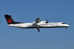C-GGDU Bombardier Q400 at CYYZ (yyzgvi) Tags: cggdu bombardier dhc8402 q400 canada express new livery jazz cyyz yyz toronto pearson aviation air