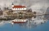 quiet morning (Stefan Giese) Tags: nikon d750 lofoten norwegen norway vestpollen sildpollnes reflection reflektion spiegelung kirche church kapelle afp70300mmf4556 70300