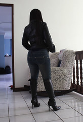 Leather Jacket (johnerly03) Tags: erly leather jacket knee high boot heels fashion filipina philippines asian long hair