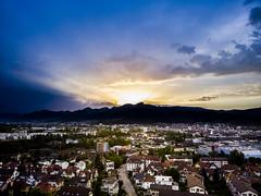 Oltensunset (Dynamo's World) Tags: sunset sun sonne son sonnenuntergang olten schweiz abend nights dji drone wonderfull