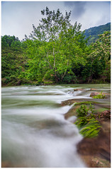 Water Line (=Heo Ngốc=) Tags: water fall longexposure d700 tree green clouds landscape river nature vietnam tokina1116 line leading