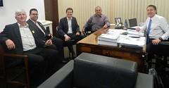Audiência com prefeitos da região Centro-Sul do Paraná, Santin Roveda (União da Vitória), Kurt (Porto Vitória) e Bibi (Cruz Machado).