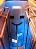 Because I'm Happy... (Jen_Vee) Tags: tosster metal appliance kitchen happy smile blue warm cool rack guide slide toast hardware face