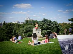 Back Girl (Calinore) Tags: france paris city ville girl femme fille woman back dedos butteschaumon ete summer park parc parisiens parisiennes parisian