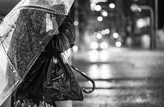 Take care! (frank.gronau) Tags: traffic ampel white black weis schwarz strase licht light street mädchen frau girl umbrella regenschirm rain raining japan osaka gronau frank
