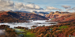 Autumn Morning in Langdale (Dave Massey Photography) Tags: lakedistrict cumbria landscape outdoor mountains mist langdale langdalepikes