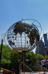 Globe sculpture, Columbus Circle, New York City, USA. (Roly-sisaphus) Tags: nyc thebigapple unitedstatesofamerica