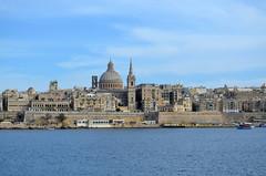 Valletta In The Distance [Sliema - 25 April 2018] (Doc. Ing.) Tags: 2018 malta sliema tassliema water sea marsamxettharbour view panorama harbour mediterranean mediterraneansea valletta dome