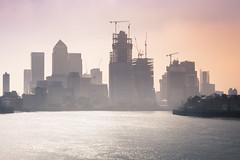 Canary Wharf skyline London (ben veasey) Tags: london construction city canarywharf