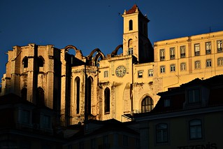 Early morning at Lisbon's Carmo Convent