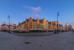 Sunrise in the market square (Vagelis Pikoulas) Tags: colour colours colors color market square poland wroclaw canon 6d tokina 1628mm view landscape city cityscape architecture morning may spring 2018 europe travel