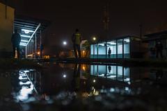 (santosloza.com) Tags: tren train night noche fuji fujix x100t people iso reflejo reflection street streetphotography