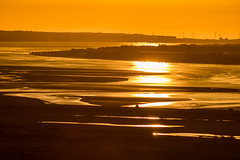 Mersey Estuary, from Frodsham Hill, Cheshire at sunset (ianbonnell) Tags: frodsham cheshire sunset mersey liverpool merseyside