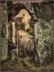 """from the series """"Walks in Italy"""". Savoca. (Sicily) (odinvadim) Tags: landscape mytravelgram iphoneart iphone iphoneography iphoneonly specialist snapseed textures painterlymobileart travel artist textured church"""