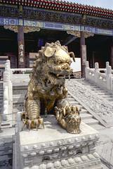 Beijing - China 1991 (wietsej) Tags: beijing china 1991 olympus om4 film srl analoge old city sculpture