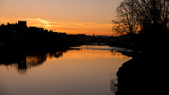 Sunset at the River (andrea.giustino54) Tags: orange sunset highcontrast gx80 florence arno
