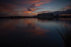 Perth Sunrise (RoosterMan64) Tags: australia clouds landscape optusstadium perth reflection sunrise water westernaustralia